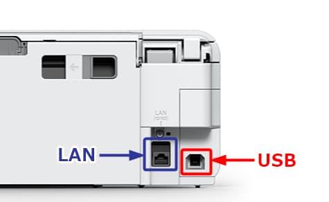 EP-982A3 背面 USBポート LANポート