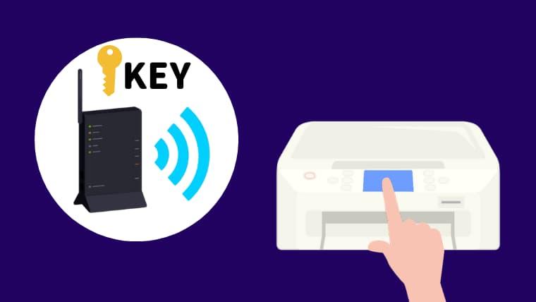 無線LANルーターの暗号化キーをプリンターに入力してWi-Fi接続する設定方法